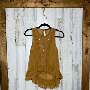 Bershka US sleeveless blouse high low size 00
